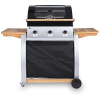 Mammoth  3 Burner Oak Gas BBQ