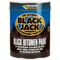 Everbuild Black Jack Bitumen Paint 5 Litre - Black