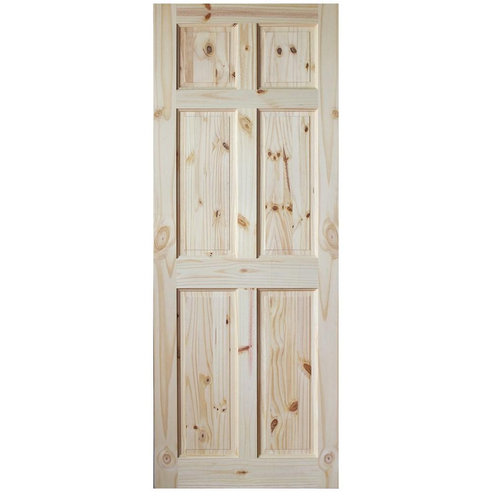 Indoors Berkley 6 Panel Interior Pine Door Unfinished Pine Doors