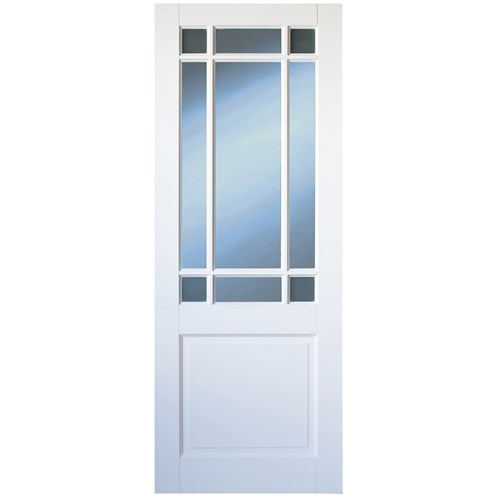 Indoors Winston 10 Panel Interior Glazed White Door Pre Primed