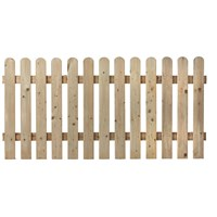 Independent Fencing  Premier Round Top Picket Fence Panel - 900 x 1800mm